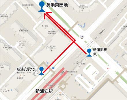 美浜東バス停