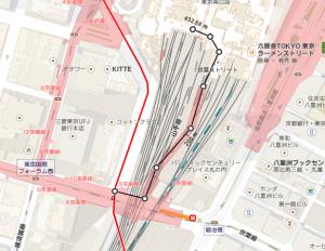 京葉線東京駅乗換えルート
