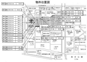 浦安市高洲企業庁分譲物件位置図