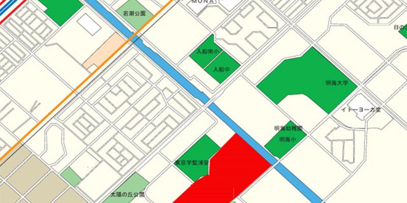 浦安市高洲地図