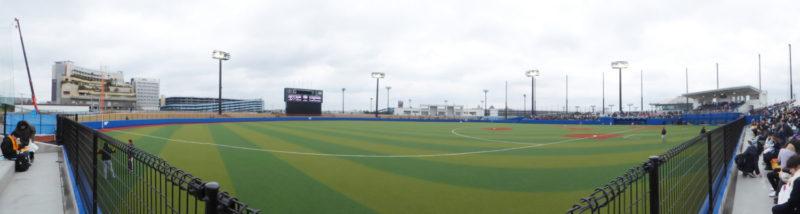 舞浜運動公園野球場3塁側スタンドから